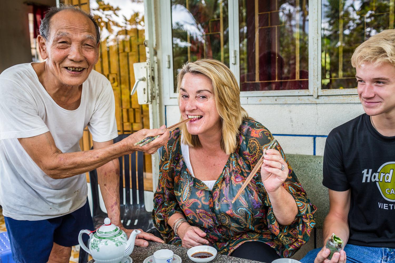 Friendly locals in Cu Chi