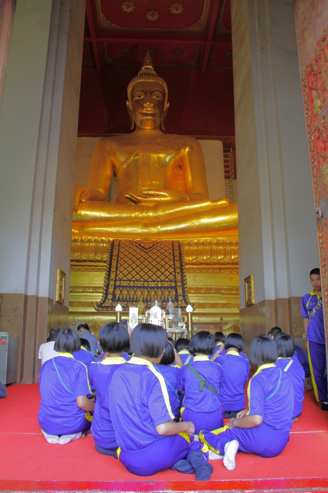 Ayunthaya Thailand - Buddha golden statue