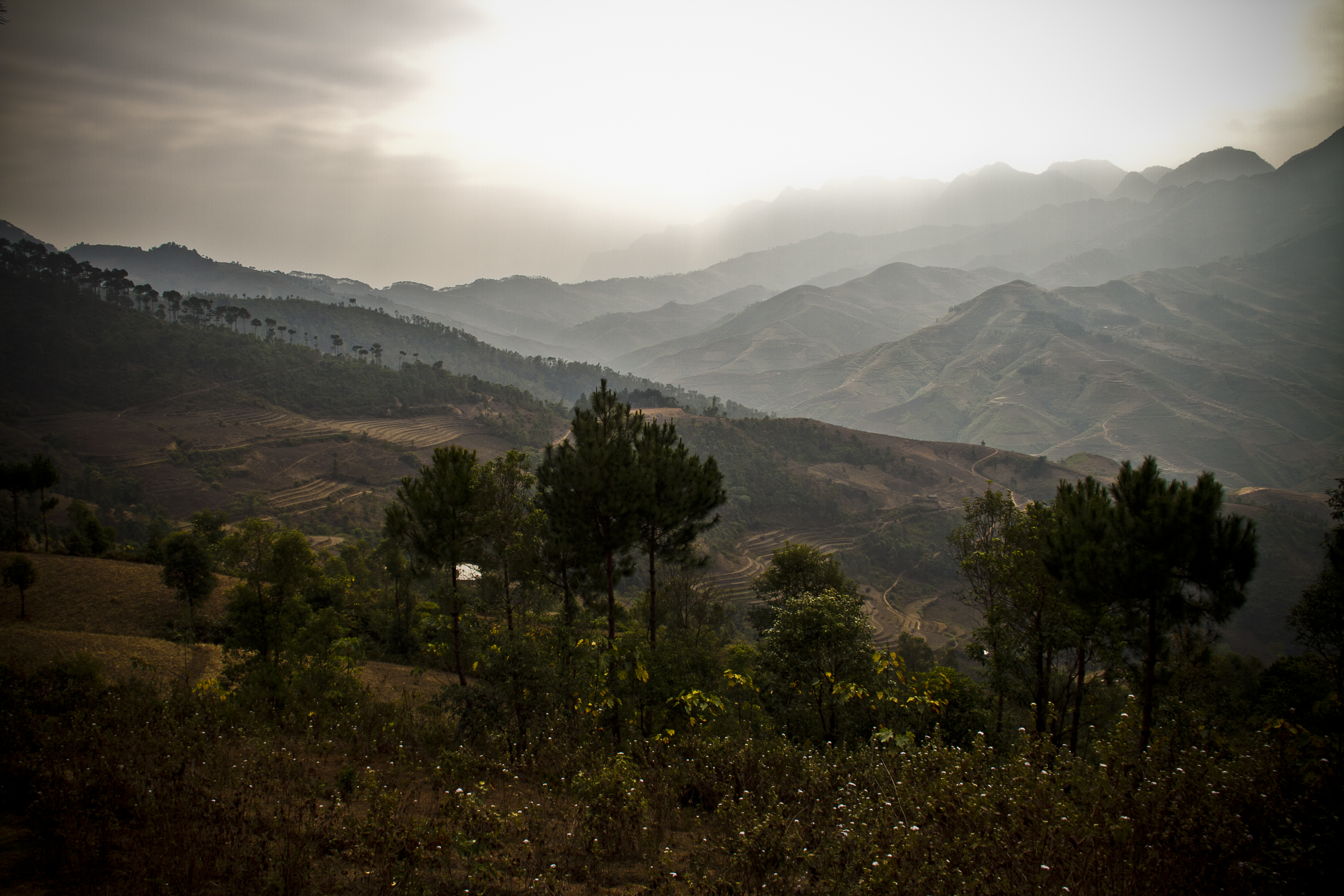 northern Vietnam mountain - morning